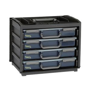 Raaco HandyBox 55 Professional Engineers Service Case Holder complete with 4 Service Cases 136242